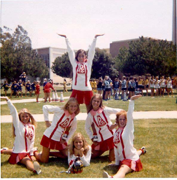 Junior Varsity Cheerleaders in the 1970s